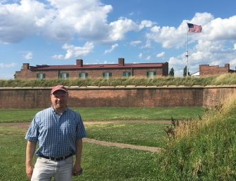 Tim doing research at Fort McHenry in Baltimore, MD.