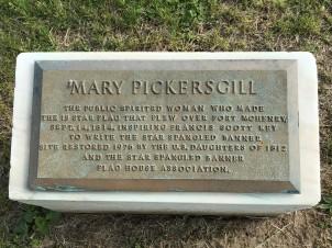 Mary Pickersgill marker